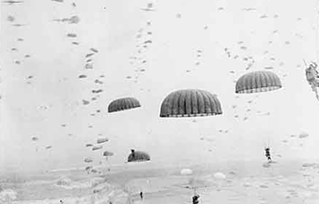 D-Day paratrooper aerial