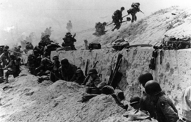 D-Day Utah Beach seawall