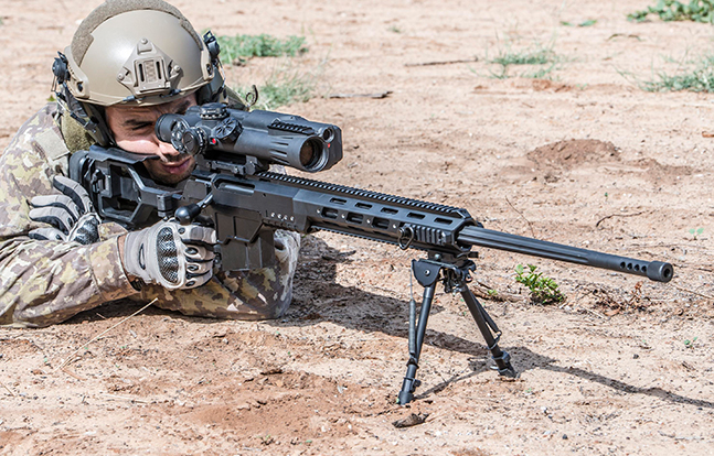 Israel Weapon Industries DAN .338 Bolt Action Sniper Rifle field