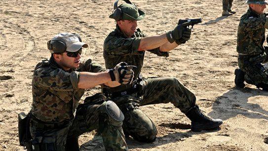 JWK Polish Commandos firing handguns