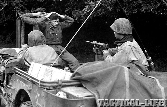 World War Guns M3 Grease Gun battle of brittany lorient