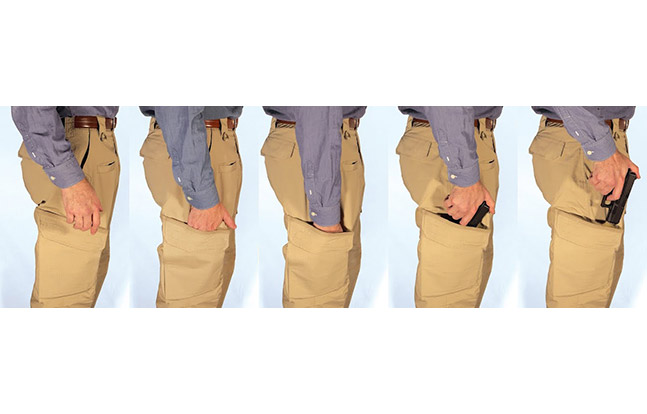 STRYKR Covert Carry Pants draw