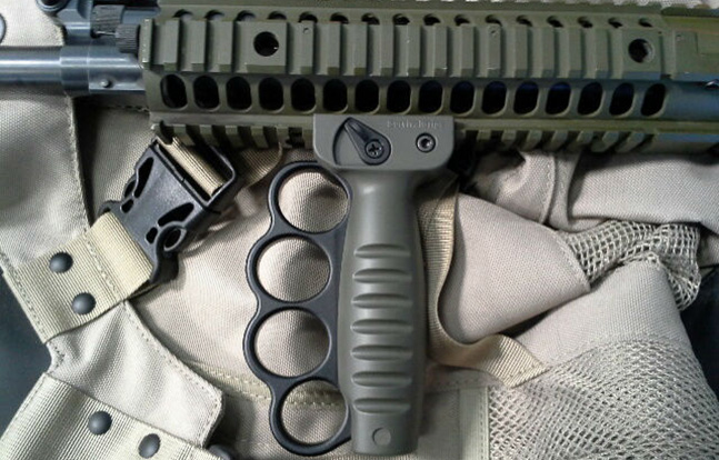 Survival Grips attached