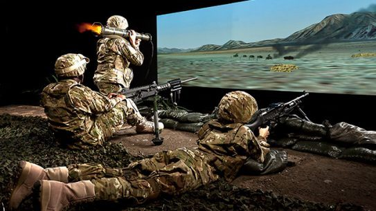 Training Simulators Meggitt three-screen mixed weapons