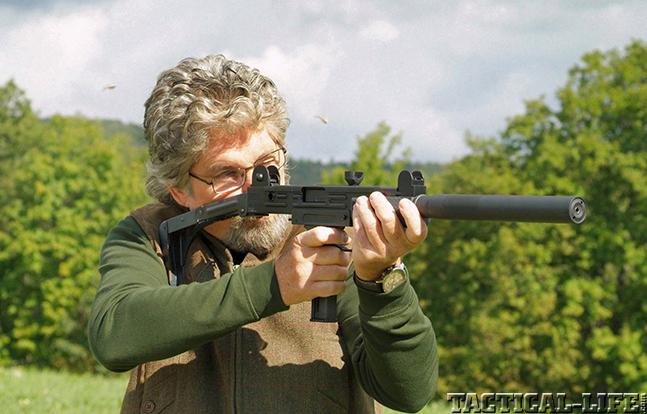 Walther Uzi .22 Rifle firing