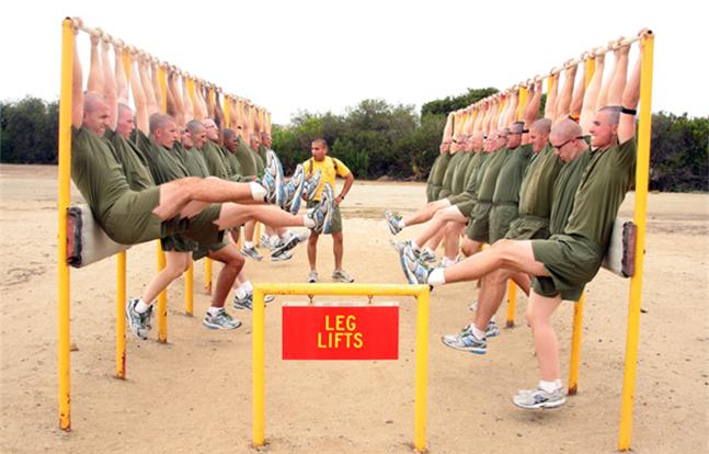 Gunny leg lifts