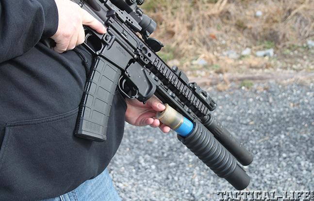 LMT M203 2003 Grenade Launcher loading