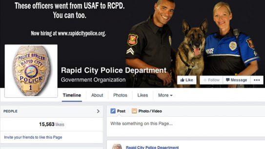 Rapid City Police Department social media