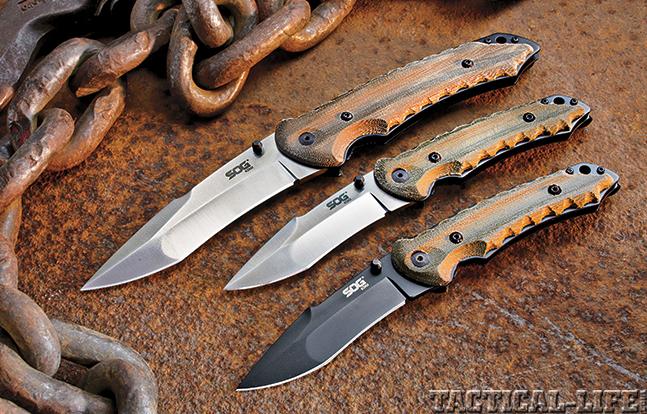 Review SOG Kiku Knives trio
