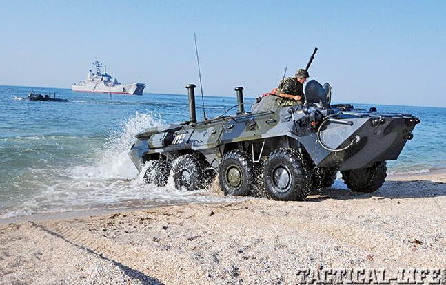 Ukraine Warriors tank boat