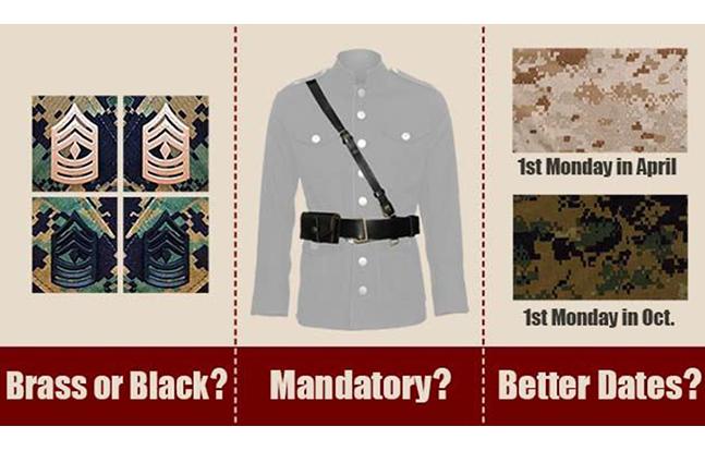 Marine Corps Uniform Board changes