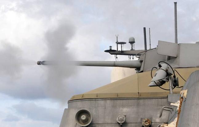 Navy Zumwalt-Class Destroyer Mk 46 Gun System