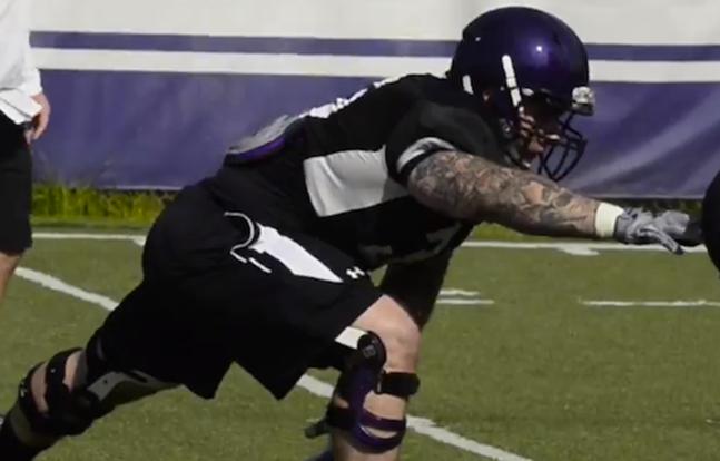 Tom Hruby Northwestern Wildcats football