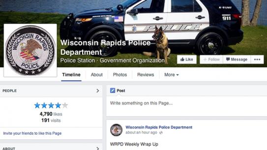 Wisconsin Rapids Police Department Facebook