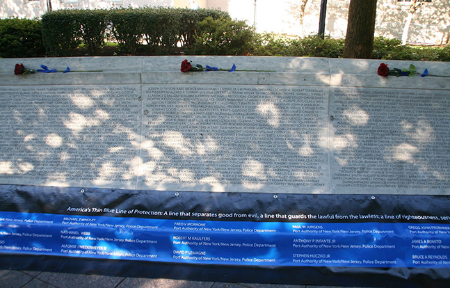 National Law Enforcement Officers Memorial wall