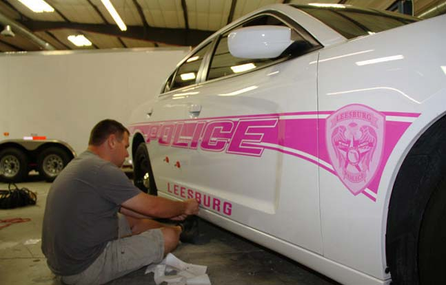 Leesburg Police Department Breast Cancer Awareness Month