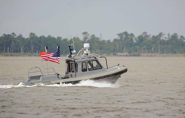 U.S. Navy Autonomous Swarm Boat demo