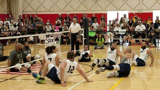 Navy Warrior Games sitting volleyball teams