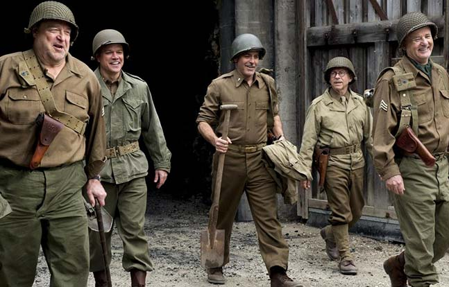 Hollywood Wartime Movies MS 2015 Monuments Men Clooney