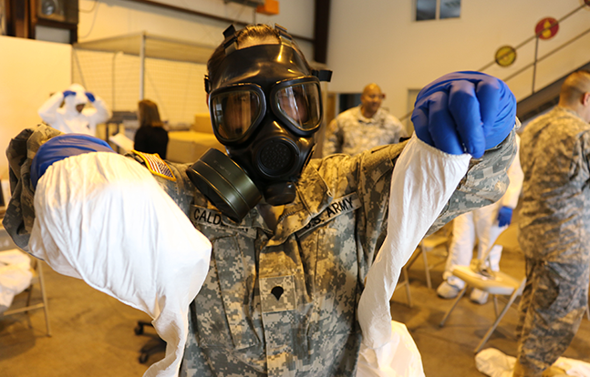 U.S. Army protective equipment Ebola