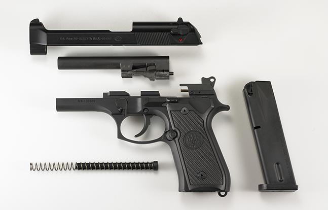 Beretta M9 SWMP Pistols 2014 apart