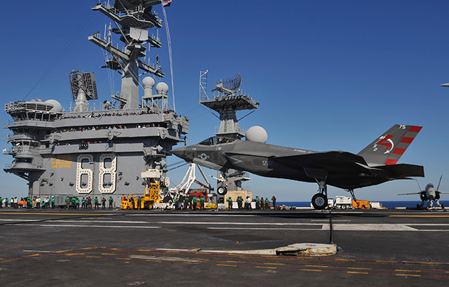 F-35C Lightning II carrier landing