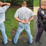 handcuffing GWLE Dec 2014 trio