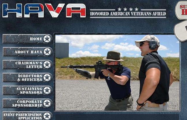 Honored American Veterans Afield homepage