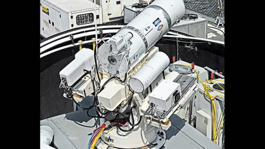 Lasers battle TW Dec lead Laser Weapon System LaWS