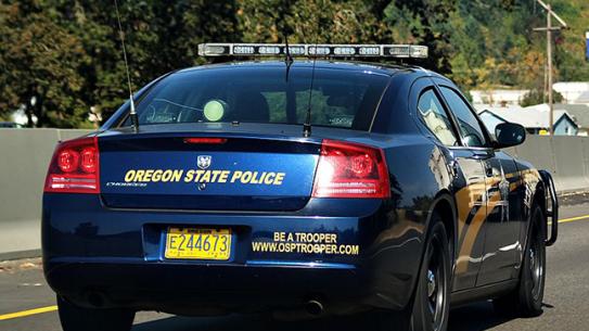 Oregon State Police car marijuana