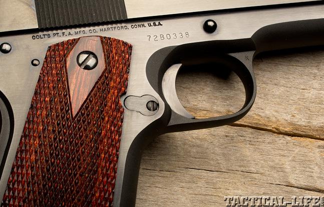 Combat Handguns top 1911 2015 COLT MARK IV SERIES 70 grip