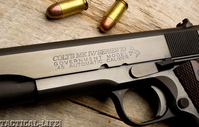 Combat Handguns top 1911 2015 COLT MARK IV SERIES 70 trigger