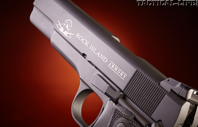 Combat Handguns top 1911 2015 ROCK ISLAND ARMORY .22 TCM 1911 side