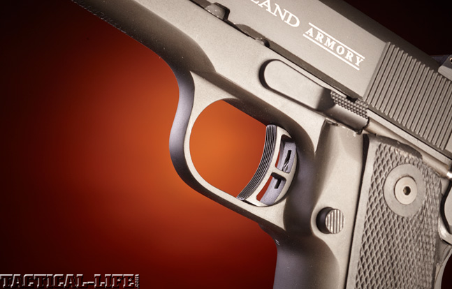 Combat Handguns top 1911 2015 ROCK ISLAND ARMORY .22 TCM 1911 trigger