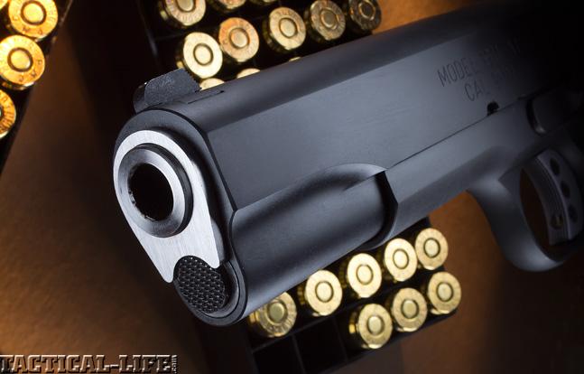Combat Handguns top 1911 2015 SPRINGFIELD ARMORY RANGE OFFICER muzzle