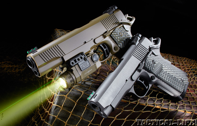 Combat Handguns top 1911 2015 TAYLOR'S TACTICAL 1911 COMPACT CARRY & 1911 FULL SIZE lead