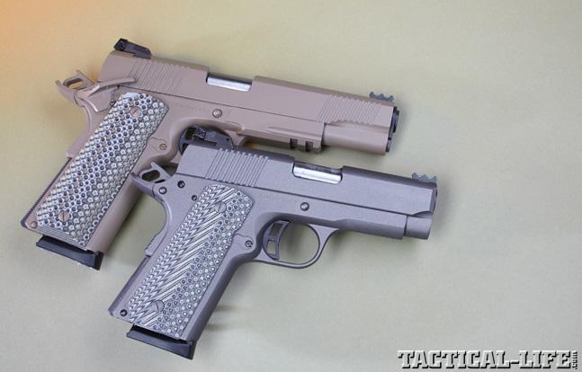 Combat Handguns top 1911 2015 TAYLOR'S TACTICAL 1911 COMPACT CARRY & 1911 FULL SIZE duo