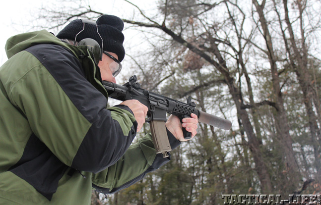 Top 30 Rifles TACTICAL WEAPONS 2014 Troy M7A1 PDW aim