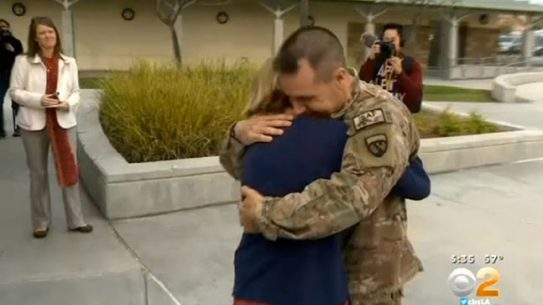 Christmas Military Dad surprise return