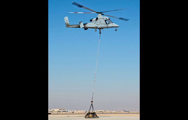 K-MAX Unmanned Helicopter SWMP Jan 2015 load