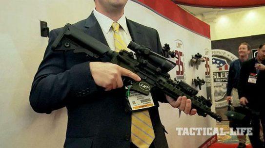 Lewis Machine & Tool CQB MRP Defender Model 16 SHOT Show 2015