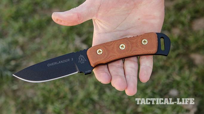 TOPS Knives Overlander 2 hand