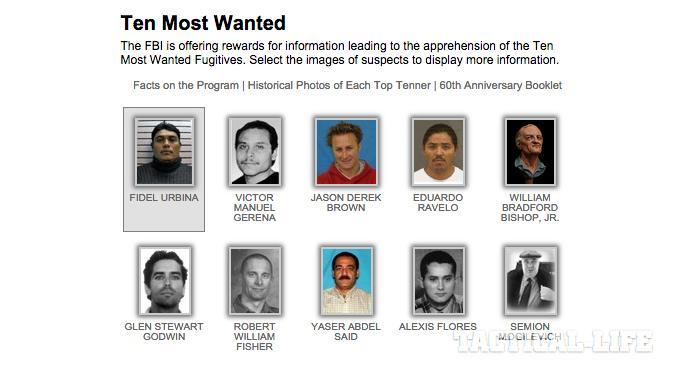 FBI 65th Anniversary of Ten Most Wanted Fugitives Program