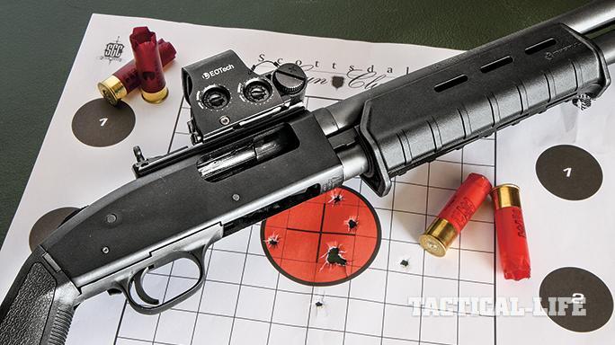 GWLE April 2015 Mossberg 590A1 Magpul target