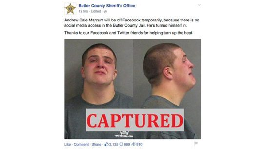 Butler County Sheriff's Office Andrew Dale Marcum Facebook