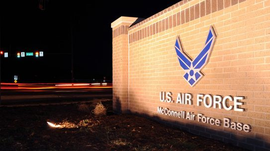 McConnell Air Force Base night