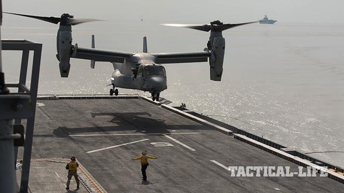 .S. Marine Corps MV-22B Osprey Korean Amphibious Assault Ship