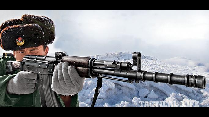 Chinese Type 81 rifle field