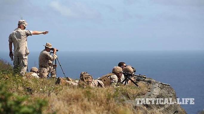 U.S. Marines Snipers High-Angle Shooting Training Hawaii