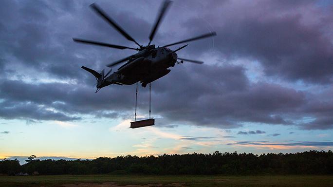 Camp Lejeune Marines Cargo Lift Exercise